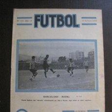 Coleccionismo deportivo: F.C. BARCELONA- AVENÇ -MADRID SEVILLA-CATALUNYA CORTS -FUTBOL-FEBRERO 1922 -VER FOTOS-(V-14.202). Lote 118188707