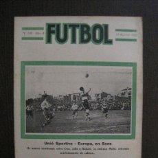Coleccionismo deportivo: EUROPA -UNIO SPORTIVA- MONTGAT-DEPORTIVO ESPAÑOL PUERTO RICO-FUTBOL-AGOSTO 1922-VER FOTOS-(V-14.213). Lote 118195339