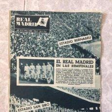 Coleccionismo deportivo: REVISTA REAL MADRID DE FUTBOL ESTADIO BERNABEU ESTADIO SAN SIRO MARZO 1964 Nº 166. Lote 118229315