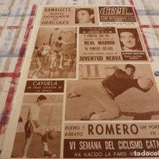 Coleccionismo deportivo: DICEN(26-1-68)PANCHO ROMERO(ESPAÑOL)RAMALLETS ENTRENADOR HÉRCULES,SIR STANLEY MATTHEWS. Lote 118459267