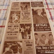 Coleccionismo deportivo: DICEN(16-2-68)PALAU,DIEGO Y GARCIA(SABADELL)PITONISO PITO,BERGARA II,GASULL,ARRANZ(BOXEO). Lote 118614355