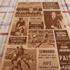 Coleccionismo deportivo: DICEN(24-2-68)HOY ESCOCIA-INGLATERRA,PAIS(ZARAGOZA)SEMINARIO Y RIFÉ,PEDRO BARET.. Lote 118615343
