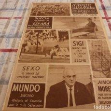 Coleccionismo deportivo: DICEN(27-2-68)PACO GENTO,SIGI,EL SUECIA-ESPAÑA,AIMORE MOREIRA,MUNDO(VALENCIA). Lote 118615679