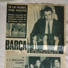 Coleccionismo deportivo: REVISTA BARÇA N 672 OCTUBRE 1968. LAS PALMAS 0 BARCELONA 0. Lote 118753675