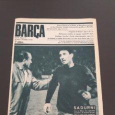 Coleccionismo deportivo: REVISTA BARÇA. 7/12/1966. BILBAO,0 - BARCELONA,0. BADALONA,2 - CONDAL,0.. Lote 118774186