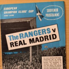 Coleccionismo deportivo: PROGRAMA GLASGOW RANGERS-R.MADRID.COPA EUROPA 1963/64. Lote 118804699