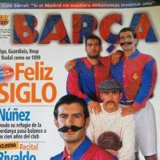 Collectionnisme sportif: REVISTA DEL FÚTBOL CLUB BARCELONA. BARÇA. Nº 3 NOVIEMBRE 1998. FIGO GUARDIOLA. 98 PAG. 300 GR. Lote 118847091