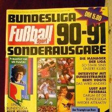 Coleccionismo deportivo: REVISTA FUSSBALL SPORT GUIA BUNDESLIGA 90-91. Lote 118854515
