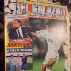Coleccionismo deportivo: EL GOLAZO 4 - POSTER ATLETICO MADRID - RAUL GUERRERO SUKER MORIENTES CANTONA JESUS GIL - 1995. Lote 119275263