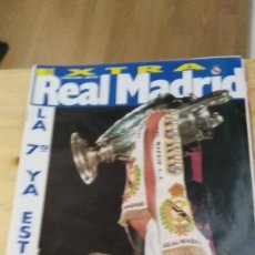 Coleccionismo deportivo: REVISTA REAL MADRID-EXTRA.R.MADRID,1-JUVE,0. CAMPEÓN COPA EUROPA - INCLUYE POSTER. Lote 119327543