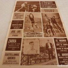 Coleccionismo deportivo: DICEN(15-3-68)PANCHO ROMERO(ESPAÑOL)!!!DEPORTIVO ORENSE ASOMBROSO RECORD!!!ZARRA(BILBAO). Lote 120275331