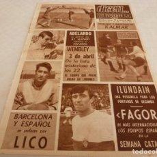 Coleccionismo deportivo: DICEN(22-3-68)LICO(ELCHE)ADELARDO(AT.MADRID)R.MADRID-MANCHESTER EN COPA EUROPA,ILUNDAIN(BADALONA). Lote 120275691