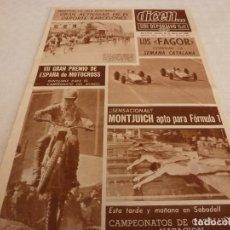 Coleccionismo deportivo: DICEN(30-3-68)LA FORMULA 1 EN MONTJUICH,RODRI 16 AÑOS BARÇA,PACHECO(AT.MADRID)MOTOCROSS. Lote 120276655