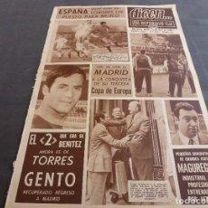 Coleccionismo deportivo: DICEN(11-4-68)TORRES HEREDA 2 DE BENITEZ(BARÇA)INGLATERRA 0 ESPAÑA 0 OLIMPIC.,HOY COPA EUROPA BASKET. Lote 120336519