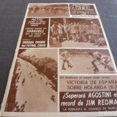 Coleccionismo deportivo: DICEN(30-4-68)SEAT 850 COUPÉ COCHE DEL AÑO !!!AGOSTINI(MOTOCICLISMO)PITONISO PITO. Lote 120348403