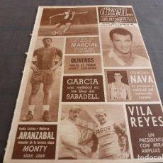 Coleccionismo deportivo: DICEN(18-5-68)OLIVEROS(BARÇA)TONCHO NAVA(R.MADRID)MARCIAL(ESPAÑOL)COPA EUROPA-ZARAGOZA.. Lote 120541411