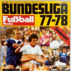 Coleccionismo deportivo: FUSSBALL WOCHE - BUNDESLIGA 77-78 - EXTRALIGA / SEASON GUIDE.#. Lote 120573931