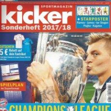 Coleccionismo deportivo: KICKER - CHAMPIONS LEAGUE 2017/2018.#. Lote 120576179