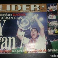 Coleccionismo deportivo: REVISTA LÍDER. ESPECIAL REAL MADRID, CAMPÉON DE EUROPA, 7ª CHAMPIONS, LA SÉPTIMA COPA, JUNIO 1998. Lote 120862563