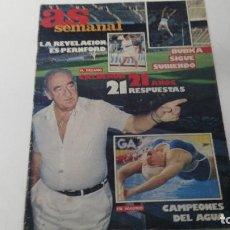 Coleccionismo deportivo: ANTIGUA REVISTA AS SEMANAL Nº 28 1986. Lote 121205479