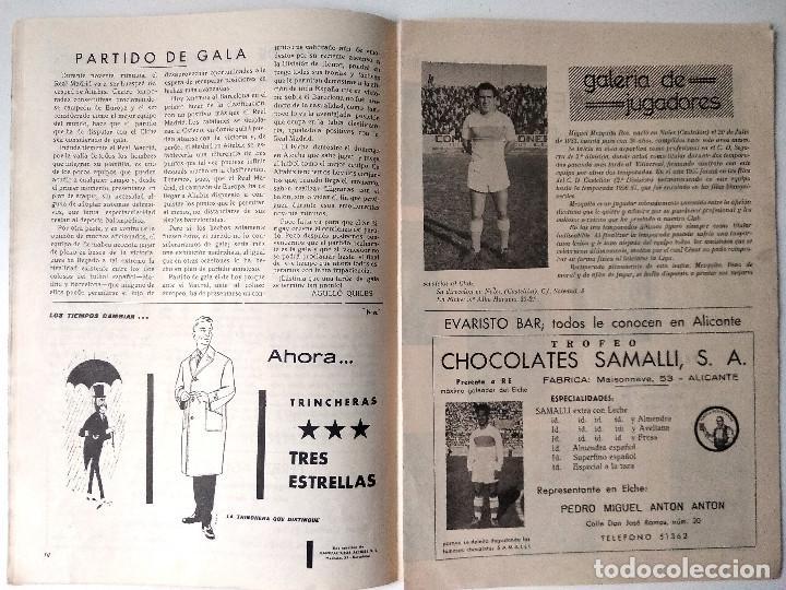Coleccionismo deportivo: ELCHE C.F. - BOLETÍN INFORMATIVO Nº 5 - 17 OCTUBRE 1959 - DELEGACIÓN DE PRENSA Y PROPAGANDA - Foto 2 - 121251391