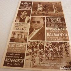Coleccionismo deportivo: DICEN(1-6-68)COPA BARÇA 6 R.SOCIEDAD 1,GLARIA(ESPAÑOL)FRANCH(BARÇA)ISIDRO(SABADELL)PICADERO DAMM. Lote 121326647