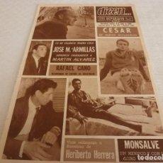 Coleccionismo deportivo: DICEN(4-6-68)EUROCOPA NACIONES,MONSALVE(BASKET)CÉSAR,HERIBERTO HERRERA,ECOS CARRERAS MONTSENY.. Lote 121327211
