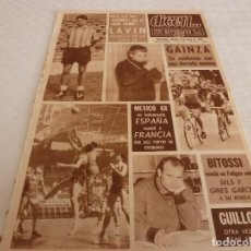 Coleccionismo deportivo: DICEN(8-6-68)LAVIN(ATH.BILBAO)GAINZA,GUILLOT(VALENCIA)EL BARÇA AFICIONADO,MEXICO-68 BASKET. Lote 121333075