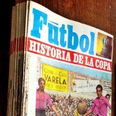 Coleccionismo deportivo: 25 EJEMPLARES FUTBOL HISTORIA DE LA COPA (1946-1970) Nº 26 AL 50 IBERICO EUROPEA EDICIONES 1970. Lote 121512003