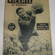 Coleccionismo deportivo: (ALB-TC-29) REVISTA COLECCION IDOLOS DEL DEPORTE VICENTE. Lote 121593891