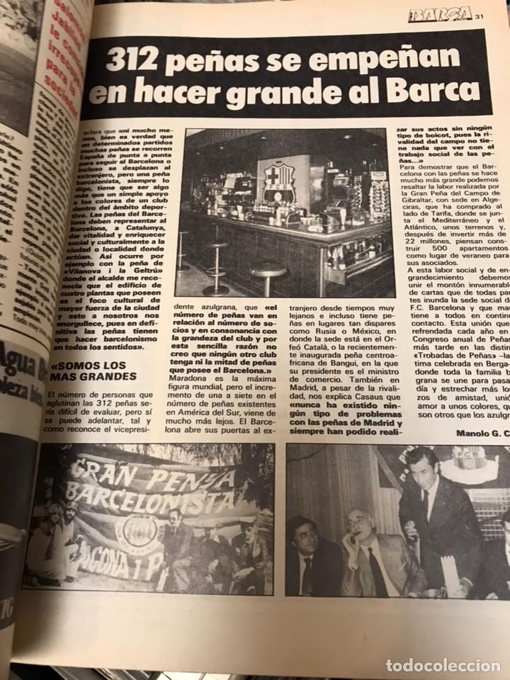 Coleccionismo deportivo: Revista la saga del barca año 1 n11 maradona - Foto 4 - 121652294