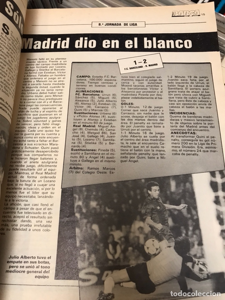 Coleccionismo deportivo: Revista la saga del barca año 1 n11 maradona - Foto 6 - 121652294