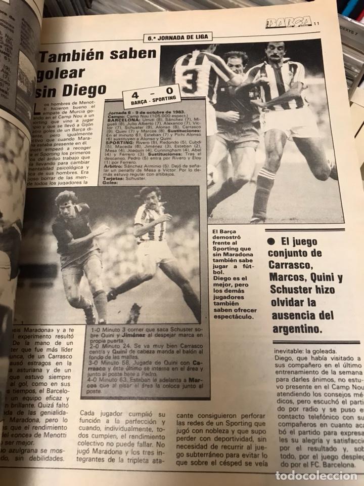 Coleccionismo deportivo: Revista la saga del barca año 1 n11 maradona - Foto 7 - 121652294