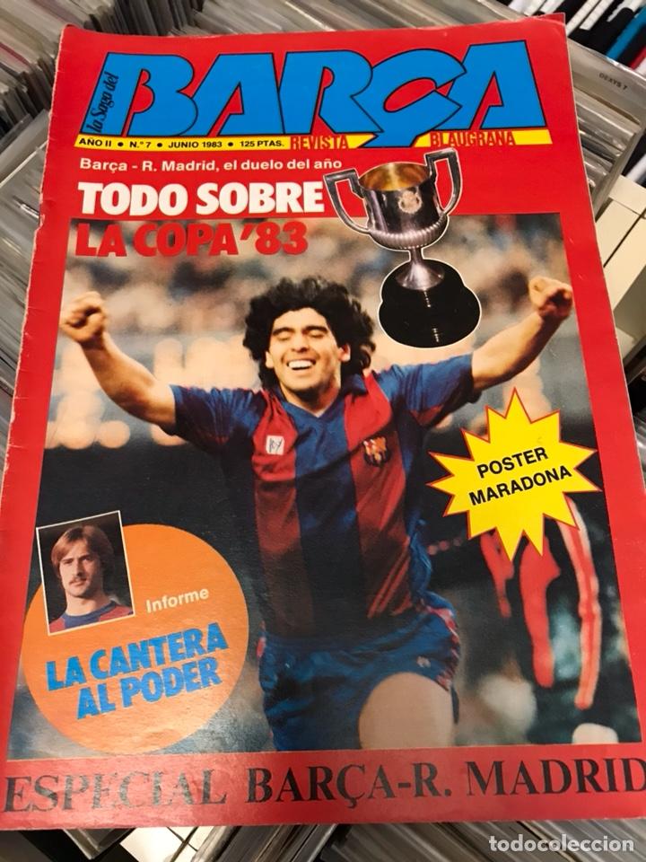 LA SAGA DEL BARCA REVISTA FUTBOL AÑO 2 N7 1983 MARADONA (Coleccionismo Deportivo - Revistas y Periódicos - otros Fútbol)