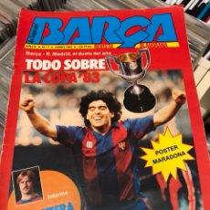 Coleccionismo deportivo: LA SAGA DEL BARCA REVISTA FUTBOL AÑO 2 N7 1983 MARADONA. Lote 121658119
