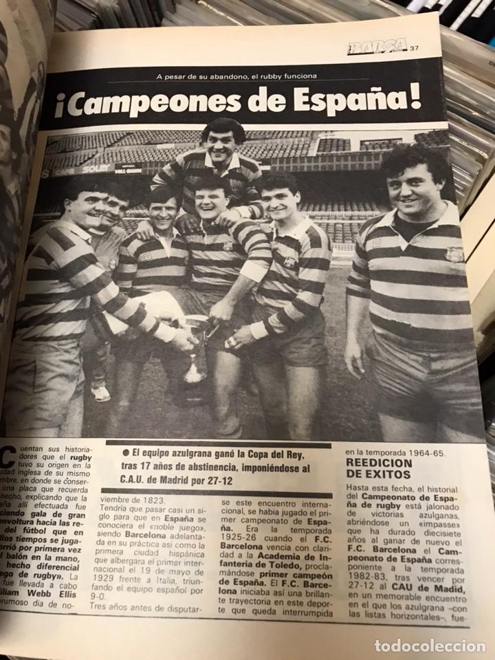 Coleccionismo deportivo: LA SAGA DEL BARCA REVISTA FUTBOL AÑO 2 N7 1983 MARADONA - Foto 2 - 121658119