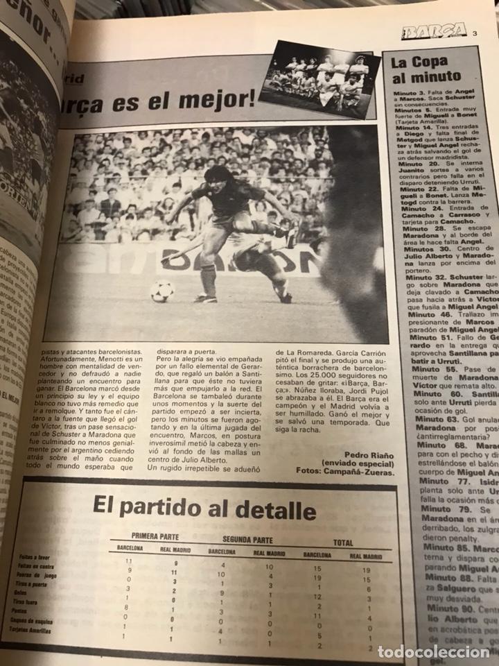 Coleccionismo deportivo: LA SAGA DEL BARCA REVISTA FUTBOL AÑO 2 N7 1983 MARADONA - Foto 4 - 121658119