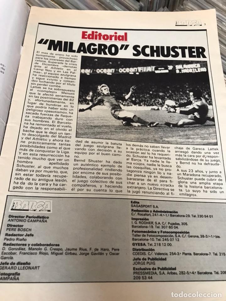 Coleccionismo deportivo: Revista la saga del barca año 1 n3 schuster - Foto 4 - 121652758