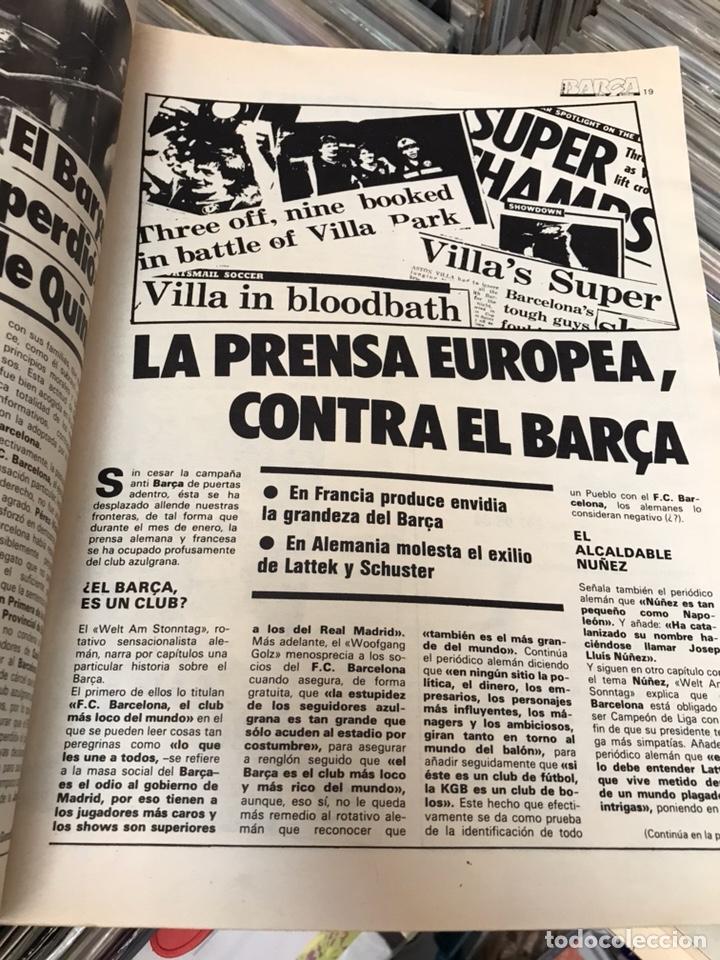Coleccionismo deportivo: Revista la saga del barca año 1 n3 schuster - Foto 6 - 121652758