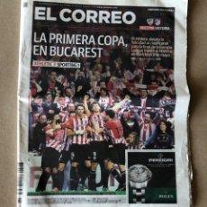 Coleccionismo deportivo: ATHLETIC CLUB - PERIÓDICO EL CORREO 27/4/2012 ATHLETIC CLUB 3-1 SPORTING DE PORTUGAL. . Lote 121752627