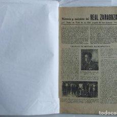 Coleccionismo deportivo: COLECCIONABLE BODAS DE PLATA HISTORIA Y ANÉCDOTA DEL REAL ZARAGOZA FUTBOL IBERIA S.C. 1957. Lote 121873123