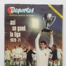 Coleccionismo deportivo: DEPORTES, ASI SE GANO LA LIGA 1970-71, VALENCIA CLUB FUTBOL CAMPEON, PUBLICIDAD AVIDESA-CORTE INGLES. Lote 121961591