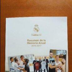 Coleccionismo deportivo: F-507- RESUMEN MEMORIA ANUAL REAL MADRID 2016 - 2017. Lote 122138999