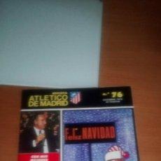 Coleccionismo deportivo: REVISTA ATLETICO MADRID Nº 76 DICIEMBRE 1976. Lote 122242491