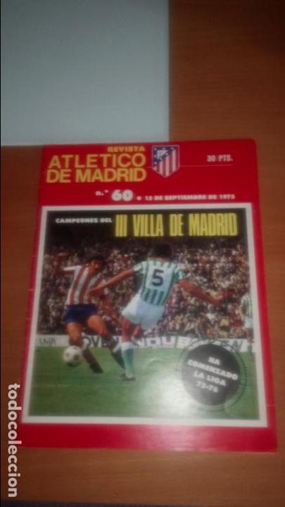 REVISTA ATLETICO MADRID Nº 60 SEPTIEMBRE 1975 (Coleccionismo Deportivo - Revistas y Periódicos - otros Fútbol)