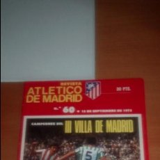 Coleccionismo deportivo: REVISTA ATLETICO MADRID Nº 60 SEPTIEMBRE 1975. Lote 122242823