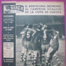 Coleccionismo deportivo: REVISTA BARÇA, Nº 259, 1960, FUTBOL, BARCELONA DESTRONO AL CAMPEON DE LA COPA DE EUROPA. Lote 122432439