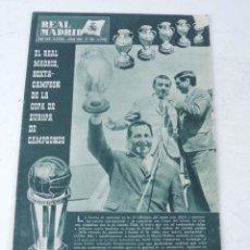 Coleccionismo deportivo: REVISTA REAL MADRID 2ª EPOCA AÑO XVII JUNIO 1966 Nº 193 EL REAL MADRID SEXTA CAMPEON COPA DE EUROPA. Lote 122532795