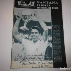 Collectionnisme sportif: REVISTA REAL MADRID Nº 195 MANOLO SANTANA AGOSTO 1966. Lote 122728847