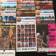 Coleccionismo deportivo: FUTBOL CLUB BARCELONA BARÇA BOLETIN OFICIAL - LOTE 16 NUMEROS EJEMPLARES REVISTAS AÑOS 70. Lote 122789407